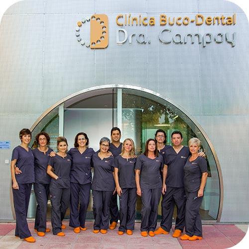 El equipo de la Clínica Bucodental Dra. Campoy