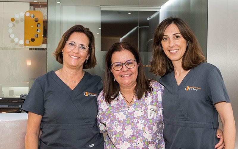 Odontopediatría. La Dra. Campoy, la Dra. Pérez y la Dra. Sanz